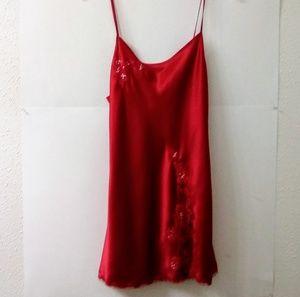 Victoria's Secret medium Red slip sleepwear